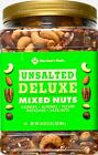 Member Mark Unsalted Deluxe Mixed Nuts Cashews Pecans Pistachios, 34 Ounces