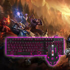 Color USB Wired English/Russian Backlight PC Gamer Gaming Keyboard and Mouse Set