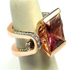 FixedPricefashion ladies rose gold faux ruby diamond ring bridal engagement ring jewelry s