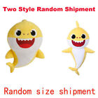 Kid Baby Plush Shark Singing English Song Toy Cartoon Music Doll Musical Gift US