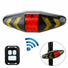 Wireless Bicycle COB LED Tail Rear Lamp Turn Signal Light Remote Control USB