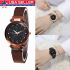 Women Girl Starry Sky Watch Waterproof Magnet Stainless Steel Strap Band Gifts image