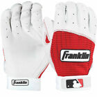 NEW Original MENS Franklin MLB PRO CLASSIC Baseball  BATTING Gloves WHITE RED