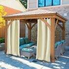 Outdoor Curtains Panel Tab Top Window Curtain for Pergola/Patio/Balcony