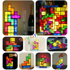 Novelty DIY Retro Game Style Puzzle Desk Lamp LED Tetri Constructible Light Gift