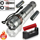 20000LM ZOOM Tactical T6 LED Flashlight 7 Modes Torch 18650 +Charger Light