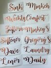 Personalised Vinyl Stickers Mrs Hinch Army Storage Baskets Zoflora Lenor Bottles