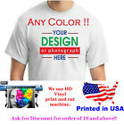 Custom printed t-shirt any color Personalized custom tshirt text photo logo