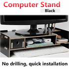 Desktop Computer Riser Stand TV LCD Screen Riser Monitor Mount Wood Shelf Plinth