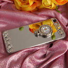 7F33 Mobile Phone Plating Mirror Case Cover Bling Crystal Ring High Quality
