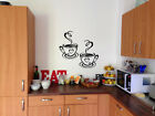 2 Coffee Cups Kitchen Vinyl Wall Art Stickers