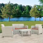 Garden Rattan Corner Sofa Outdoor Furniture Patio Set Garden Entertaining Set Us