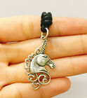 Magic Unicorn Flying Horse Horn 92.5 Sterling Silver Necklace Pendant Jewelry