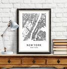New York City Map Poster Wall Art Decor City Maps Print Map Art Gift NY Posters for sale  Shipping to Canada