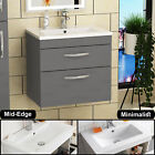 Bathroom Vanity Unit Basin Sink Furniture Cabinet Storage BTW Pan WC Gloss Grey