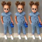 Fashion Toddler Baby Kids Girls Denim Romper Bodysuit Jumpsuit Outfits Clothes