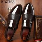 Vogue Mens Patent Leather Pointy Toe Slip On Formal Business Dress Shoes Oxfords