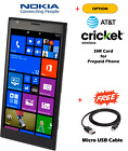 NOKIA LUMIA 1520 16G GSM AT&T Cricket Smartphone Black Refurbished