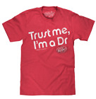 MENS DR PEPPER TRUST ME T-SHIRT RED DISTRESSED LOGO RETRO SODA  TEE TOP NEW
