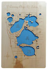 Wood Laser Cut Map of Conway Chain of Lakes, Florida