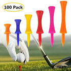 Plastic Step Down Golf Tees 100 Count Height Control 6 Colors 6 Sizes Graduated
