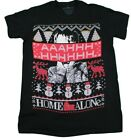 HOME ALONE UGLY CHRISTMAS T-SHIRT BLACK MENS RETRO MOVIE TEE XMAS HOLIDAY image