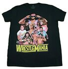 WWE WRESTLEMANIA LEGENDS T-SHIRT BLACK RETRO MENS WRESTLER 90S TEE image