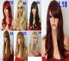 Women Copper Brown Red Plum Ash Blonde Auburn Ginger Fashion Costume curly wigs