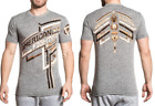 AMERICAN FIGHTER Mens T-Shirt DALEVILLE Athletic HEATHER GREY Biker Gym $40 image