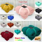 Luxury Warm Soft Large Popcorn Fleece Throw Blanket Sofa Bed Travel Throwover