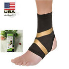 Copper Fit Pro Compression Ankle Sleeve Arthritis Relief Motion Brace Black 1/2x