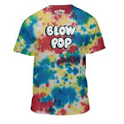 BLOW POP TIE DYE LOGO T-SHIRT MENS RETRO CANDY TEE GRAPHIC TOP NEW image