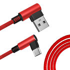 USB C Type C Braided Fast Charging Charger Cable Data Sync 90 Degree Right Angle