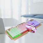 2Pc Game Keyboard Durable Portative USB Backlit Mouse Pad for Match Game Playing
