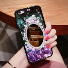 INS Diamond Mirror Glitter Stars Dynamic Quicksand Case Cover For Various Phone