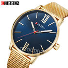 CURREN Men's Fashion Quartz Watches Stainless Steel Luminous Casual Wristwatches image