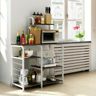 Multi-Tier Microwave Oven Cart Bakers Rack Kitchen Rack Storage Shelves Stand photo