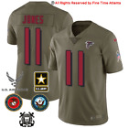 NEW Julio Jones Atlanta Falcons Mens Olive Salute to Service Military Jersey
