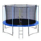ExacMe 10-16FT Round Trampoline with Inner Enclosure 335 LBS Max Weight Limit