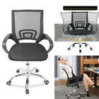 'Adjustable Office Chair Executive 360° Swivel Pu Leather Sport Computer Desk Uk