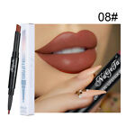 Beauty Smooth Matte Nude Lip Lin er Tattoo Lips Pencil Double Head Lipstick Pen