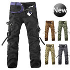 Men Military Combat Straight Trouser Camouflage Cargo Camo Army Casual Work Pant
