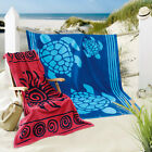 Delindo Lifestyle Frottee Strandtuch Strandlaken TROPICAL 100x180cm + 180x200cm