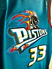 Grant Hill Detroit Pistons TEAL Retro Jersey Adidas Hardwood Classic FREE SHIP on eBay