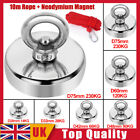 Salvage Strong Recovery Magnet Neodymium Hook Treasure Hunting Fishing +10m Rope