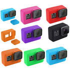 Soft Silicone Protective Housing Case Cover + Lens Cap For Gopro Hero 7 Black