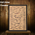 Evolution Home Decor Kraft Paper Famous Rifles Wall Sticker Vintage Posters