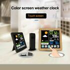 LCD Touch Screen Wireless Weather Station Indoor Outdoor USB Digital Alarm Clock