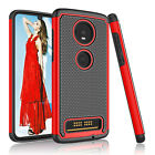 For Motorola Moto Z4 Case Shockproof Luxury Rubber Cover With Screen Protector