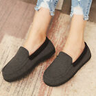 Ladies' Comfy Memory Foam Moccasin Slippers Breathable Cotton House Shoes
